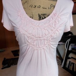 Willi Smith Tops - willi smith light pink gathered shirt size Medium
